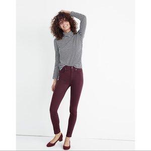 "NWT Madewell 10"" High-Rise Skinny Sateen Jeans"